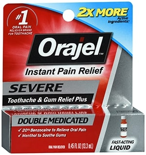 Orajel Instant Pain Relief Severe Double Medicated